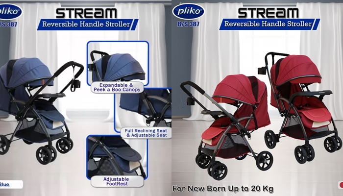 stroller reversible pliko stream